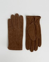 Asos Suede Gloves In Brown