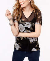 INC International Concepts I.n.c. Petite Printed Illusion Top, Created for Macy's