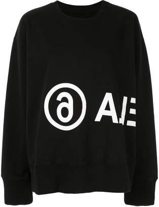 MM6 MAISON MARGIELA contrasting logo printed sweatshirt