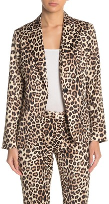 Laundry by Shelli Segal Leopard Print Satin Blazer