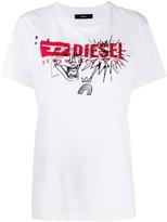 Diesel T-Daria logo print T-shirt