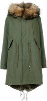 Furs66 - classic parka coat - women - Cotton/Leather/Rabbit Fur/Racoon Fur - 40