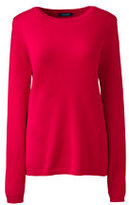 Lands' End Women's Cashmere Sweater-Yellow Gold