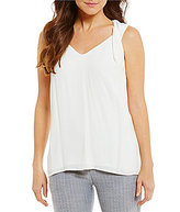 Antonio Melani Harry V-Neck Sleeveless Solid Crepe Blouse