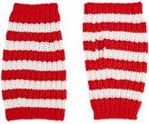 Gucci Men's Striped Fingerless Gloves-RED