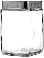 Anchor Hocking Stackable Glass 1.5 Quart Jar with Metal Lid