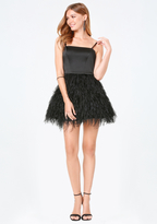 Bebe Feather Fit & Flare Dress