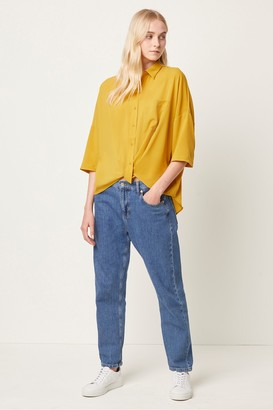 French Connection Crepe Light Twist Front Shirt