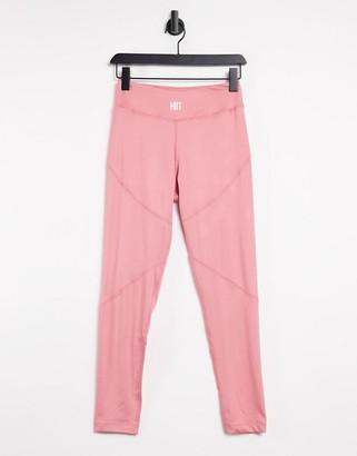 HIIT ruffle leggings in pink