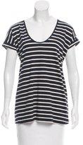 Tory Burch Striped Short Sleeve T-Shirt
