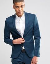 Selected Suit Jacket in Super Skinny Fit with Stretch