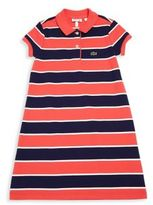 Lacoste Toddler's, Little Girl's & Girl's Bold Stripe Pique Dress