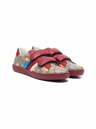 Gucci Children TEEN monogram-print sneakers