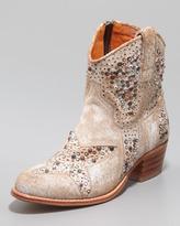 Frye Deborah Star-Studded Ankle Boot, White