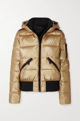 Goldbergh Aura Hooded Quilted Metallic Down Ski Jacket