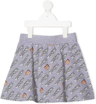 MOSCHINO BAMBINO Logo Print Skirt
