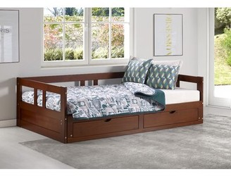 Harriet Bee Bechtold Daybed with Trundle Bed Frame Color: Chestnut