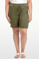 NYDJ Candice Linen Blend Short (Plus Size)