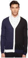 McQ by Alexander McQueen Color Block Cardigan Men's Sweater