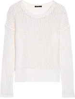 James Perse Open-knit Cotton And Linen-blend Sweater - White