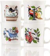 Fiesta Twelve Days of Christmas Set of 4 Mugs
