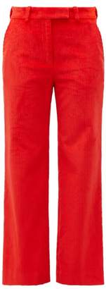 Hillier Bartley Straight-leg Corduroy Trousers - Womens - Red