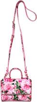 Dolce & Gabbana Rose Print Patent Leather Shoulder Bag