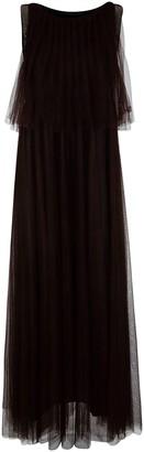 Fabiana Filippi Sleeveless Pleated Front Long Dress