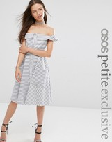 Asos Stripe Summer Dress with Button Front