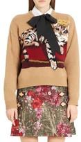 Dolce & Gabbana Women's Cat Intarsia Cashmere, Wool & Mohair Blend Sweater