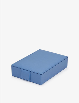Smythson Grosvenor Travel Tray leather jewellery box