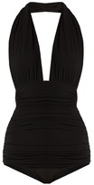 Thumbnail for your product : Norma Kamali Bill Halterneck Swimsuit - Black