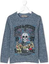 Zadig & Voltaire Kids skull print jersey top