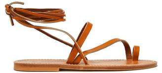 K. Jacques Ellada Leather Sandals - Womens - Tan