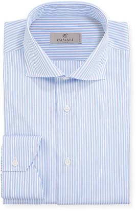 Canali Men's Striped Cotton Dress Shirt