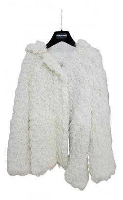 Yves Salomon Ecru Mongolian Lamb Coat for Women