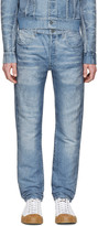 Calvin Klein Collection Blue Distressed Jeans