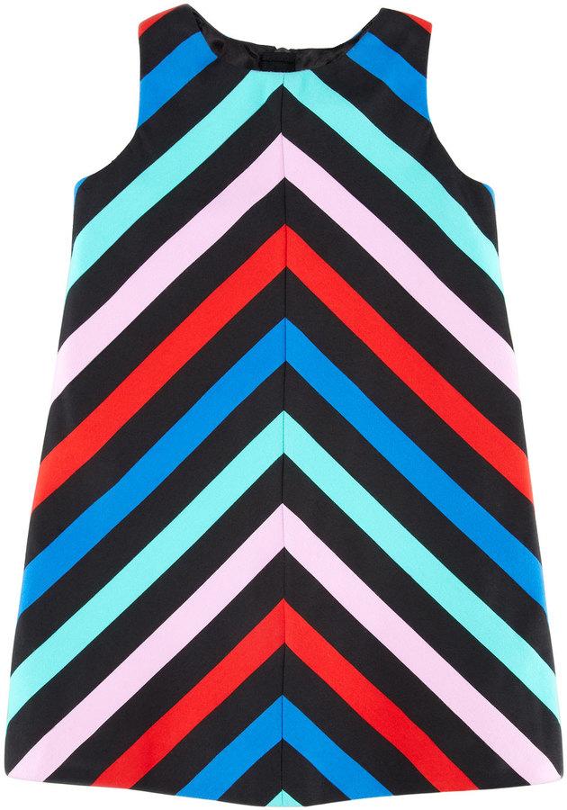 Milly Minis Sleeveless Striped-Twill Dress, Sizes 2-6