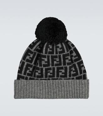 Fendi FF wool beanie