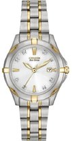 Citizen Eco-Drive Women's EW1934-59A Stainless Steel Two-Tone Watch with Diamonds
