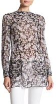 Anna Sui Oops A Daisy Silk Blend Floral Tunic