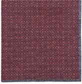 Paolo Albizzati Men's Reversible Cotton-Silk Pocket Square