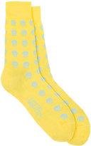 Alexander McQueen Men's Skull-Pattern Mid-Calf Socks
