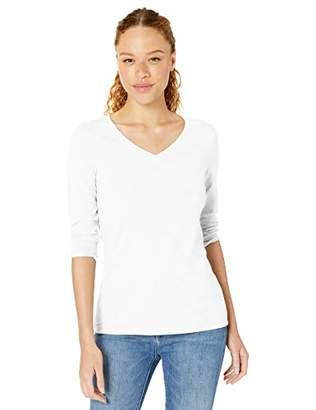 Amazon Essentials Women's Classic-Fit 3/4 Sleeve V-Neck T-Shirt