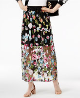 Cynthia Rowley CR By Embroidered Maxi Skirt, Only at Macy's