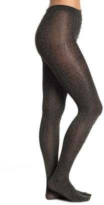 Me Moi Leopard Print Luxe Opaque Tights
