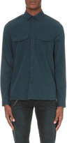 The Kooples Concealed popper-fastened denim shirt