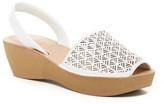 Kenneth Cole Reaction Fine Glass Laser-Cut Platform Sandal