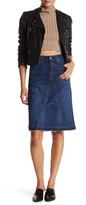7 For All Mankind Release Hem Denim Skirt