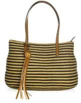 Eric Javits Dame Brooke Woven Straw & Textile Tote